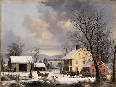 Winter In The Country Print by George Henry Durrie