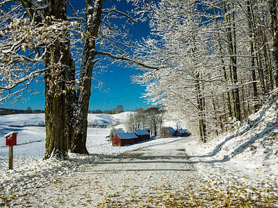 Impressions Photograph - Winter In Vermont by Edward Fielding
