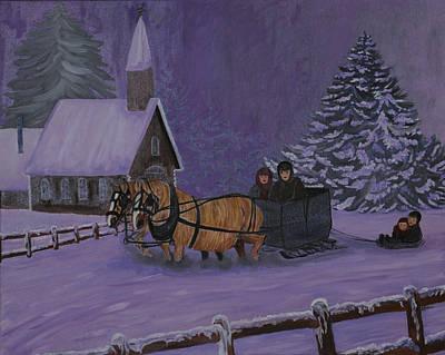 Winter Joy Ride Print by BJ Hilton Hitchcock
