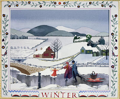 Winter Print by Julia Rowntree