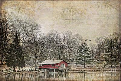 Winter Lake Print by Darren Fisher