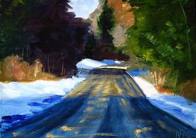 Sunriver Painting - Winter Light by Nancy Merkle