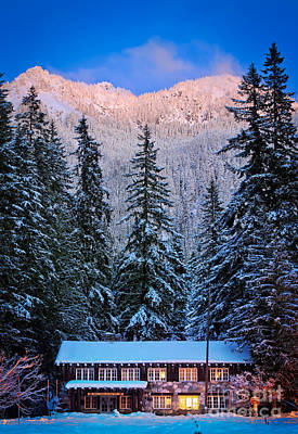 Winter Lodging Print by Inge Johnsson
