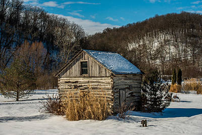 Winter Scenes Photograph - Winter Logcabin by Paul Freidlund