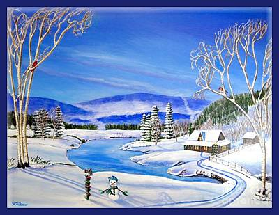 Tree With Eye Painting - Winter Magic At A Mountain Getaway by Kimberlee Baxter