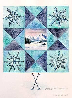 Winter Montana/ohio Square. Full Picture Print by Gina Gahagan