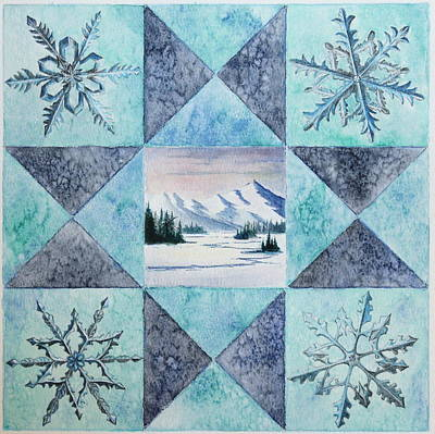 Winter Montana/ohio Square Print by Gina Gahagan