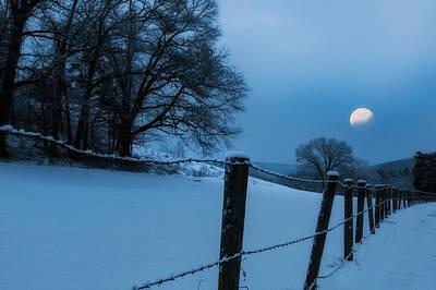 Heavenly Body Photograph - Winter Moon by Bill Wakeley