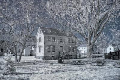 Winter Morning - Strawbery Banke - Portsmouth Nh Print by Joann Vitali