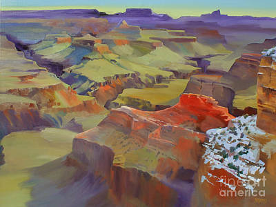 Green Abyss Painting - Winter Morning At Yavapai Point by Bernard Marks