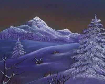 Winter Night Print by Anastasiya Malakhova