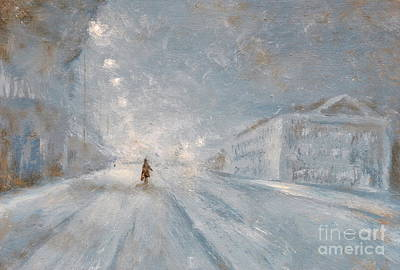 House Decoration Art Painting - Winter Night by Martin Capek
