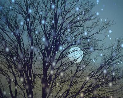 Winter Night Sky Print by Gothicolors Donna
