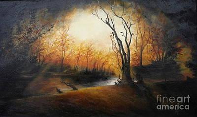 Winter Night Print by Sorin Apostolescu