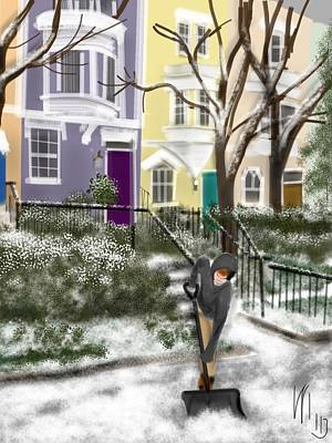 Washington D.c Drawing - Winter On Capitol Hill by Lois Ivancin Tavaf