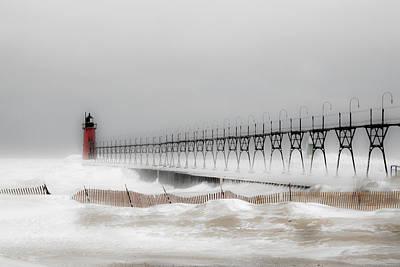 Winter On Lake Michigan Original by Sherry Piet