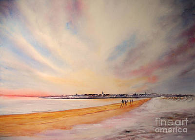 Winter On St Andrews Scotland Print by Beatrice Cloake