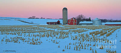Winter On The Farm Print by Mike Griffiths