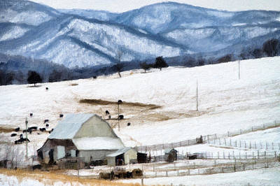 Winter Paint Print by Kathy Jennings