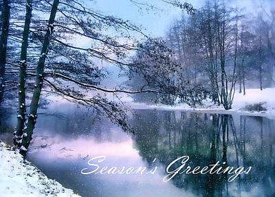 Christmas Digital Art - Winter Pond by Jessica Jenney