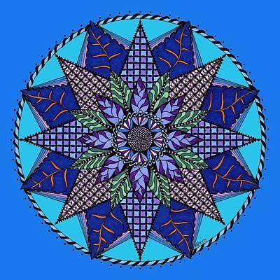 Mandala Drawing - Winter by Rebecca Jayne