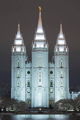 Lds Photograph - Winter Reflection by Dustin  LeFevre