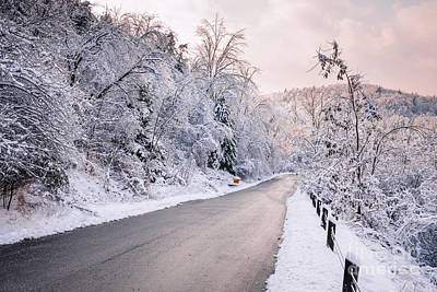 Snowstorm Photograph - Winter Road After Snowfall by Elena Elisseeva