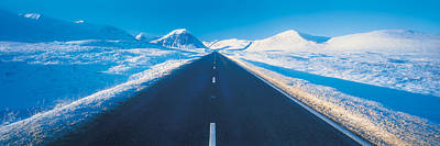 Winter Road Glencoe Scotland Print by Panoramic Images