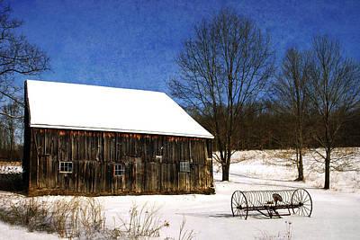 Digital Art - Winter Scenic Farm by Christina Rollo