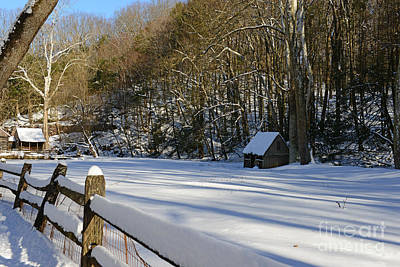 Mill In Woods Photograph - Winter Shack by Paul Ward