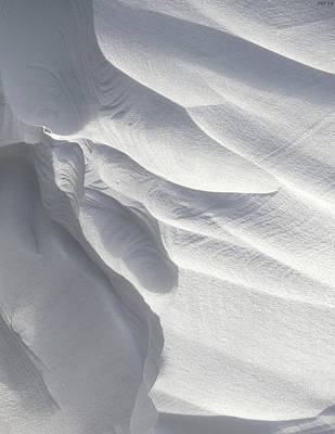 Winter Snow Drift Sculpture  Print by Phil Perkins