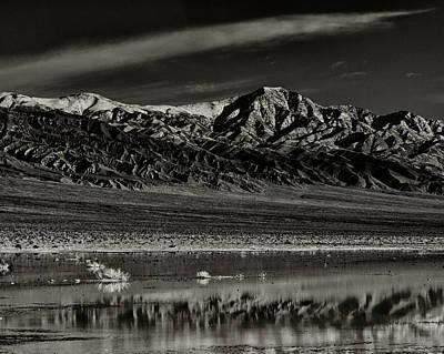 Winter Snow Panamint Range Inyo County Ca Print by Troy Montemayor