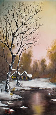 Bob Ross Style Painting - Winter Solace by C Steele