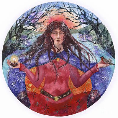Mandal Painting - Winter Solstice by Kate Bedell