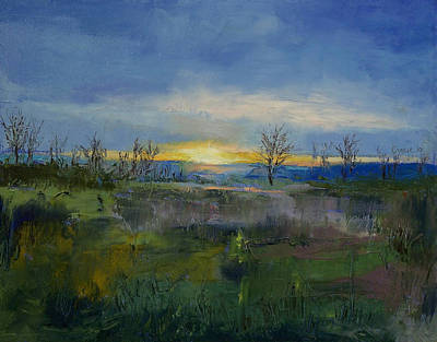 Arbres Painting - Winter Solstice by Michael Creese