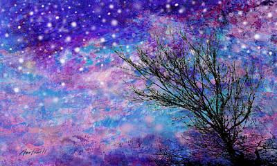 Winter Starry Night Print by Ann Powell
