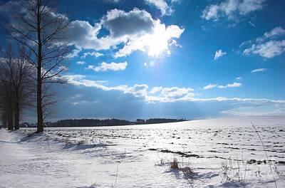 Road Photograph - Winter Sunny Landscape by Michal Bednarek