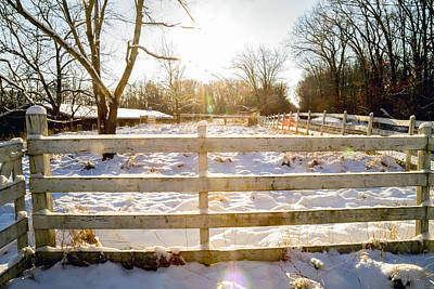 Wetmore Photograph - Winter Sunrise 4  by Tim Fitzwater