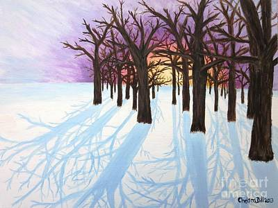 Morning Painting - Winter Sunrise by CE Dill