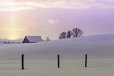 Winter Sunrise Original by Teri Virbickis