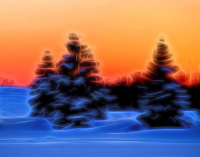 Winter Sunset Original by Dan Sproul