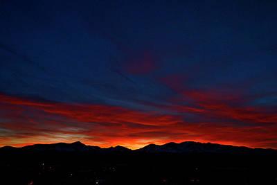 Mt. Massive Photograph - Winter Sunset by Jeremy Rhoades