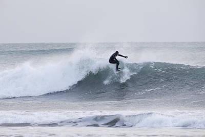 Winter Surfing Print by Tim Grams