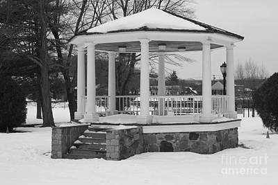 Photograph - Winter Time Gazebo by John Telfer