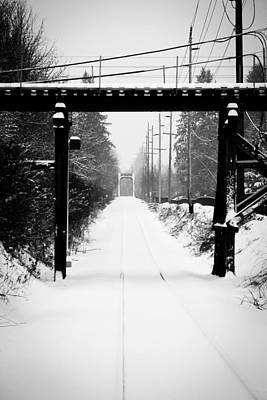 Train In The Winter Photograph - Winter Tracks by Aaron Berg