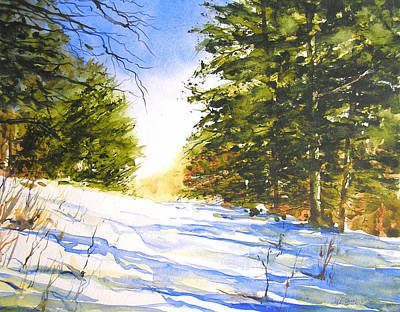 Cross-country Skiing Painting - Winter Trail by William Beaupre