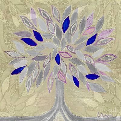 Winter Tree Print by Barbara Moignard