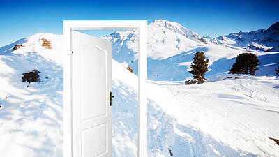 Ski Photograph - Winter Version Of Door To New World by Michal Bednarek
