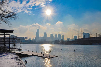 Winter Photograph - Winter View Of Philadelphia by Bill Cannon