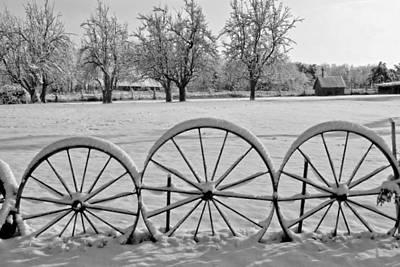 Winter Wagon Wheels Original by Donna Caplinger